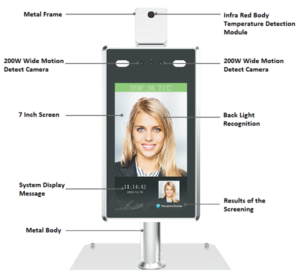 K1000 Face Recognition Access Control with Covid temperature measurement