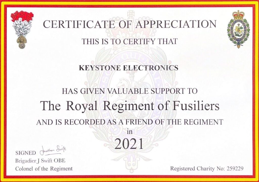 The Regiment of Fusiliers - Keystone Electronics